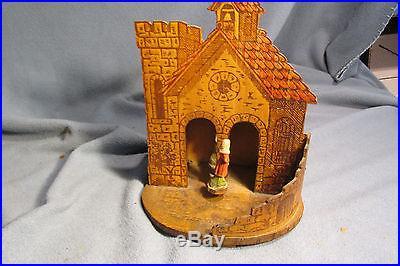 Antique Pre-WW2 German Hygrometer (Barometer) Weather House