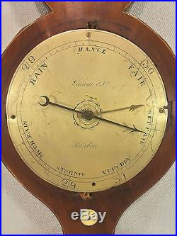 Antique Rabone of London Weather Station Barometer with Glass Tubes Early 1800s