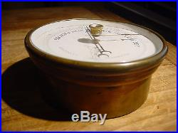 Antique Rare Paul Naudet 1894 Brass Holosteric Aneroid French Barometer Working