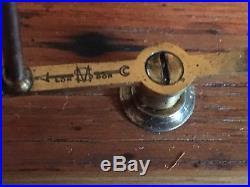 Antique SHORT & MASON Tycos BAROGRAPH Mahogany Scientific Barometer Working