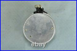 Antique SURVEYING ANEROID COMPENSATED for TEMPERATURE BAROMETER in CASE #02275