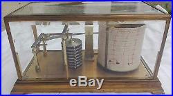 Antique Science Machine Barograph, Marked RF Paris, Nice shape, Brass & Glass