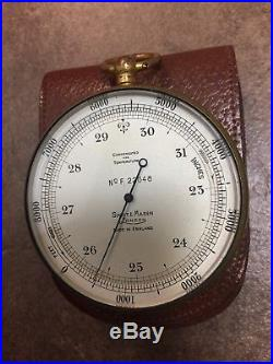 Antique Short Mason London Tycos Pocket Barometer