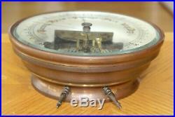 Antique Skeletonized German Barometer cira 1900 desktop or hanging 6 1/2