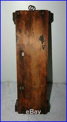 Antique Standard Cottage Thermometer Barometer 1880 1890 All Original Victorian