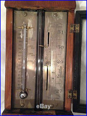 Antique Stick Barometer by Charles Wilder, Peterboro, NH