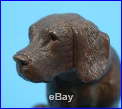 Antique Swiss Black Forest Wood Carving BAROMETER Hunt Dog Barigo Brienz c1900s