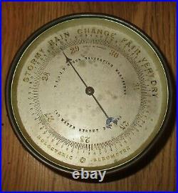 Antique T. S. &j. D. Negus Navigation Warehouse Holosteric Barometer France