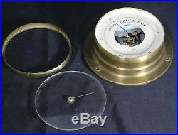Antique Taylor Asheville, NC Brass & Glass Maritime Naval Barometer