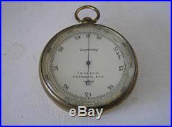 Antique The A. Lietz Pocket Barometer Altimeter
