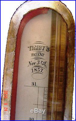 Antique Timby's Stick Barometer