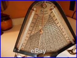 Antique Tycos Lloyd's Hygrodeik Hygrometer