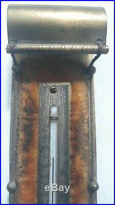 Antique Victorian Brass Desk Toboggan Thermometer