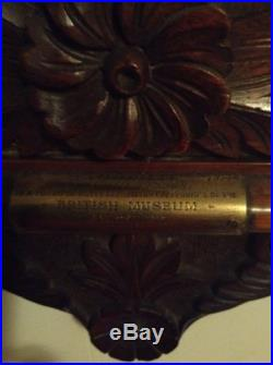 Antique Victorian Era Carved Wall Barometer Aneroide Thermometer
