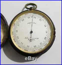 Antique Victorian Travelling Compensated Barometer/Altimeter by John Browning