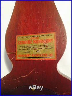 Antique / Vintage Barometer Airguide (Solid Mohogany) USA