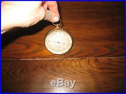 Antique Vintage Brass J. J. Hicks Compensated Pocket Barometer, London England