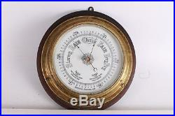 Antique Vintage Old Stunning Wooden Aneroid Barometer