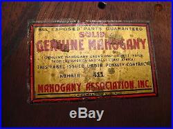 Antique Vintage P. F. Bollenbach Mahogany Barometer Weather Station