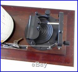 Antique Vintage TAYLOR CYCLO STORMOGRAPH Barograph Recording Barometer withCharts