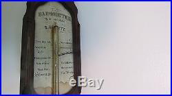 Antique Walnut Stick Barometer by S. Barlett