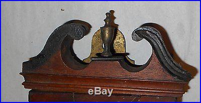 Antique Wheel Wall Barometer J Howard England Project or Parts 44 Inches Long