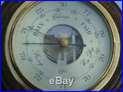 Antique Wood Brass Barigo Germany Ships Boat Yacht Marine Weather Barometer