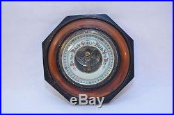 Antique Wood Wall weather Barometer