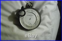 Antique aneroid surveying barometer compensated