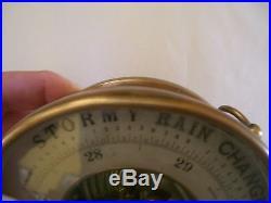 Antique barometer brass France John Bliss & Co. N. Y. PHBN