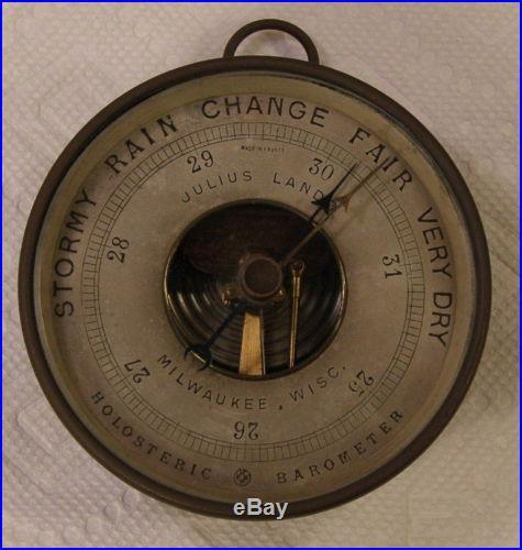 Antique julius lando milwaukee wisc. Holosteric barometer LOOK