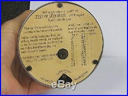 Art Deco Zeiss Ikon Aneroid Chrome Plated Desk BarometerExcellent Condition