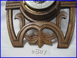 Art deco barometer&thermometer wood