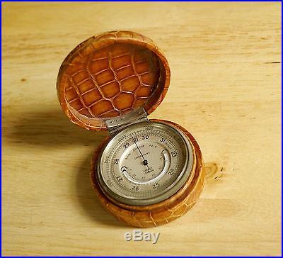 Asprey Compensated Pocket Barometer Steampunk