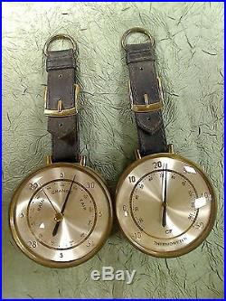BEAUTIFUL WEST GERMAN WALL HANGING BAROMETER AND THERMOMETER SET