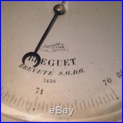 BREGUET Barometer 5 Diameter Face 19th Century Ultra Rare Antique Watch Clock