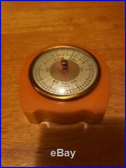 Bakelite Catalin Barometer Rain change Fair perfect! Taylor baroguide sweet