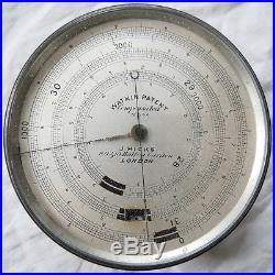 Barometer/Altimeter Watkin Patent 1886/87 J. Hicks London Triple Dial Old Antique