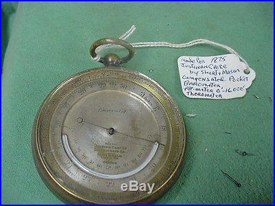 Barometer Antique Pocket Watch Style Made for JUSTIN CAIRE by Short&Mason