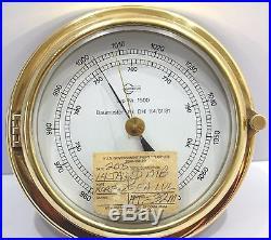 Barometer Barigo aneroid brass precision marine antique vintage high-accuracy 4