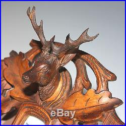 Black Forest Barometer with Deer Head, Hunt Theme early 20th Century