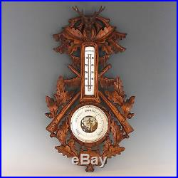 Black Forest Barometer with Deer Head, early 20th Century