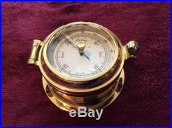 Brass Boat Barometer Porthole Style