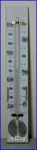 C1880 Fancy 9 Barometer Thermometer on Milkglass Plate 1 1/2 Swirl Reservoir