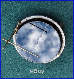 CASED c1895 Flat Globe EARTH CLOUD Measurement NEPHOSCOPE ORRERY