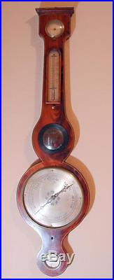 Circa 1830 English J. Ronchetti Wheel Barometer 43 Market St Manchester, Uk