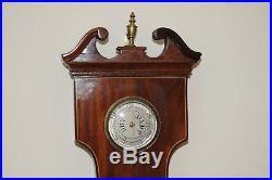 C. 1830 English Barometer Over Sized Mahogany Antique