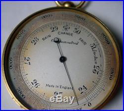 C. 1900Pocket BAROMETER / ALTIMETER / COMPASS / THERMOMETER + CaseENGLAND