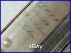C. 1900 RN Desterro Lisbon Brass Gimballed Marine Ships Stick Barometer