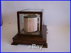 Circa 1910 Mahogany Cased Barograph By Short And Mason